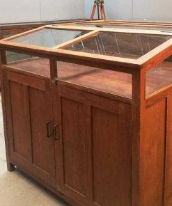 Antique teak museum showcase-4