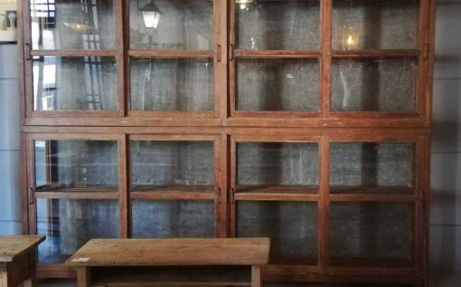 Antique Glass Showcase Cabinet-1