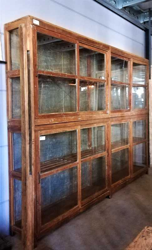 Antique Glass Showcase Cabinet-2