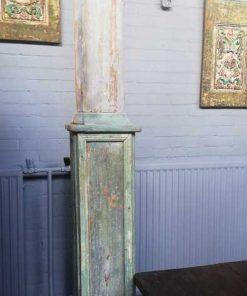 Antieke houten zuil / pilaar van ca 300 cm-2