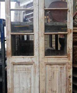 Antieke dubbele deuren met glas hxb 220x108 cm-1