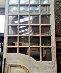 Antike Tür mit Scheiben mit Schiebesystem-2
