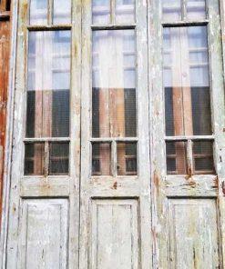 Antieke oranjerie / 3-slag deuren hxb 296x150 cm-2
