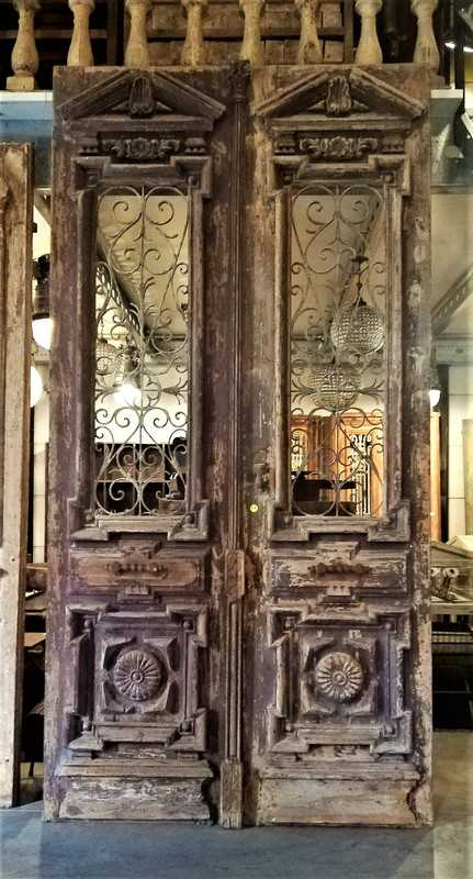 Antique French exterior doors-1