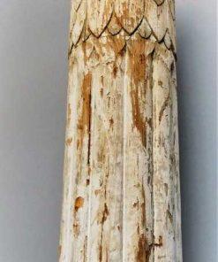 Antieke witte houten pilaar / zuil-2