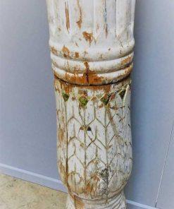Antieke witte houten pilaar / zuil-3