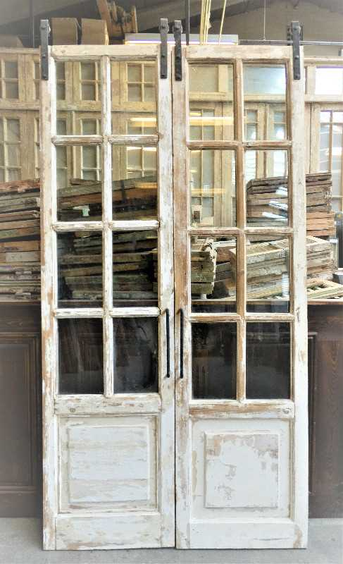 Antique double glazed doors-1