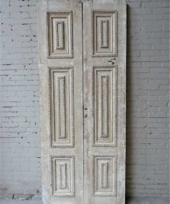 Antique machined lacquered panel doors-1