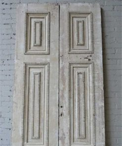 Antique machined lacquered panel doors-2