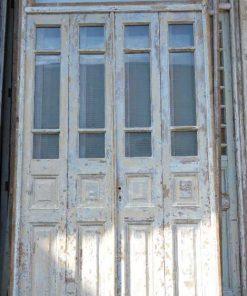 Antieke oranjerie deur / 4-slag deuren in kozijn-1