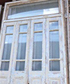 Antieke oranjerie deur / 4-slag deuren in kozijn-2