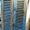 Antique blue louvre doors / shutters-1