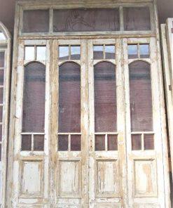 Antieke oranjerie/ 4-slag deuren hxb cm 340x230 cm-1