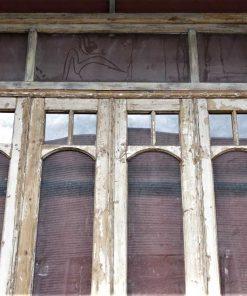 Antieke oranjerie/ 4-slag deuren hxb cm 340x230 cm-2