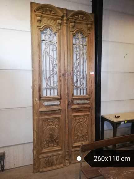 Antieke Franse deur 260x110 cm-1