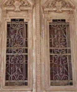 Antieke Franse deuren met smeedijzeren sier hekwerk 330x182 cm-2