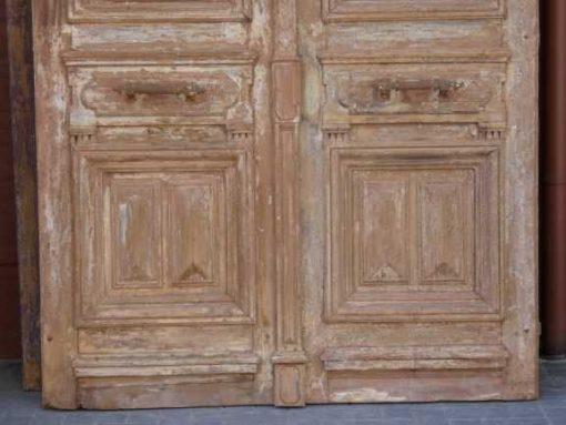 Antieke Franse deuren met smeedijzeren sier hekwerk 330x182 cm-3