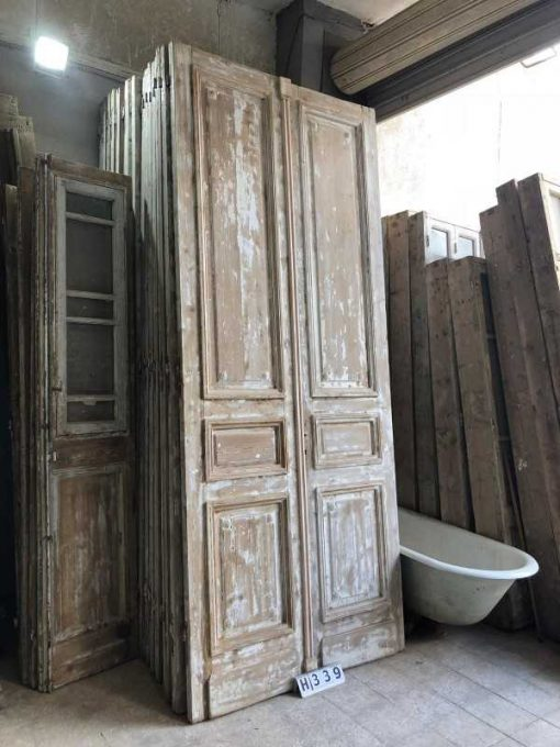 Antique double panel doors-3