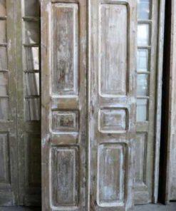 Vintage dubbele paneel deuren / loft deuren hxb 217x94 cm-1