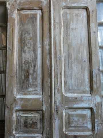 Vintage dubbele paneel deuren / loft deuren hxb 217x94 cm-2