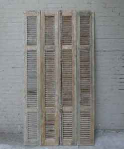 Antique grey set of louvre shutters / doors-1
