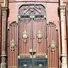 Antique black wrought iron gate-1