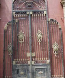 Antique black wrought iron gate-5
