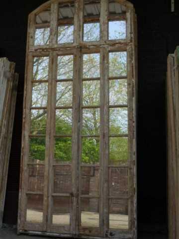 Groot antiek raam met spiegels-2