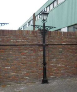 Black cast iron lantern poles-4