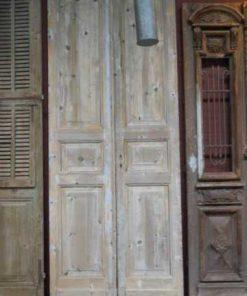 Antieke grenen dubbele paneel deuren-1