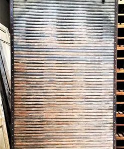 Antique wooden sliding panel-1