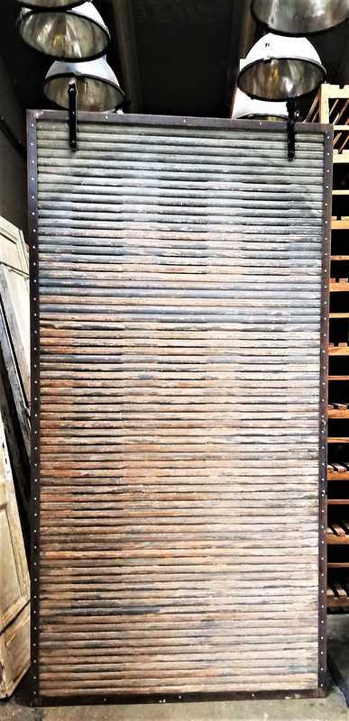 Antique wooden sliding panel-1