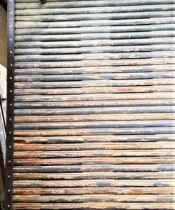 Antique wooden sliding panel-2
