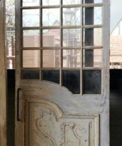 Antieke Deuren Met Glas Inclusief Schuifsysteem-4