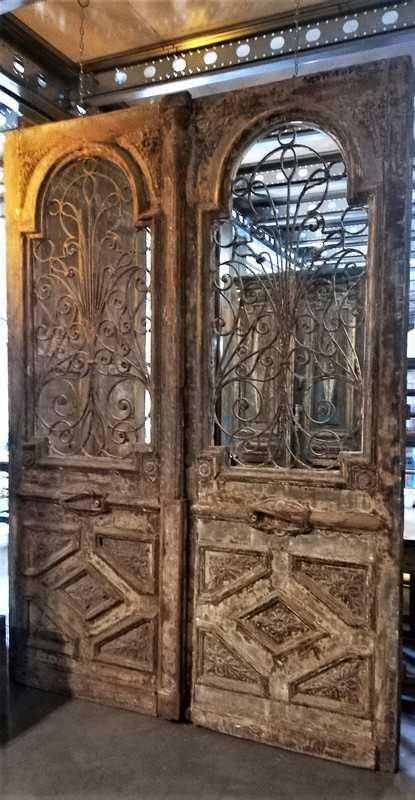 Antieke Franse Buiten Deuren 260x186 Cm-4