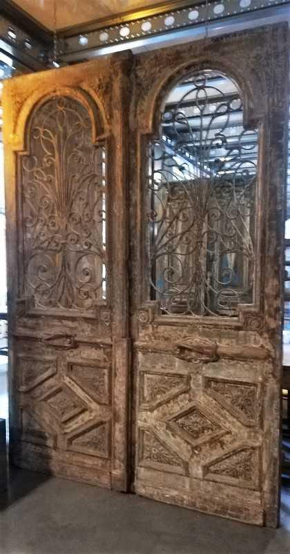 Antieke Franse Buiten Deuren 260x186 Cm-5