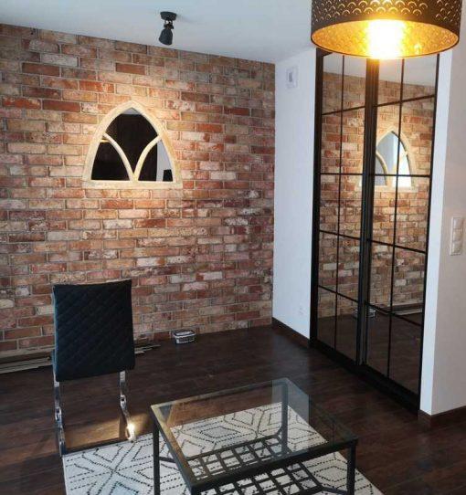 Spiegel im antiken gotischen Holzrahmen-1