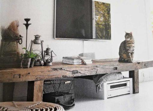 Antiker Holztisch-1