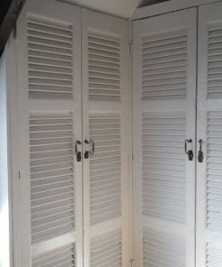 Antique blinds / shutters for built-in closet-1