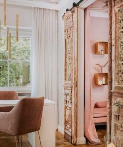 Antique French doors as connecting doors-2