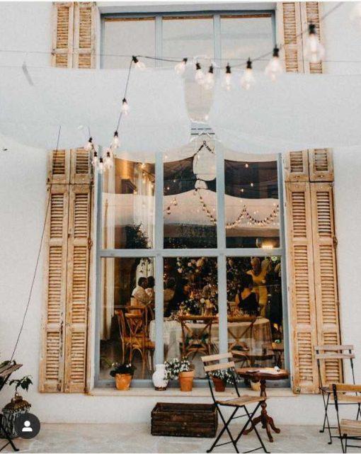 Antique louvre blinds / shutters-1