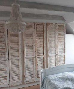 Inbouwkast in slaapkamer van antieke louvre luiken / shutters-1