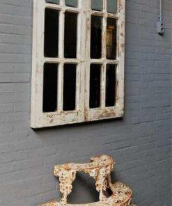 Antieke Gotisch raam met spiegels-1