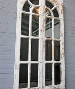 Antique Gothic window with mirrors-2