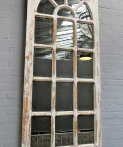 Antique Gothic window with mirror-1