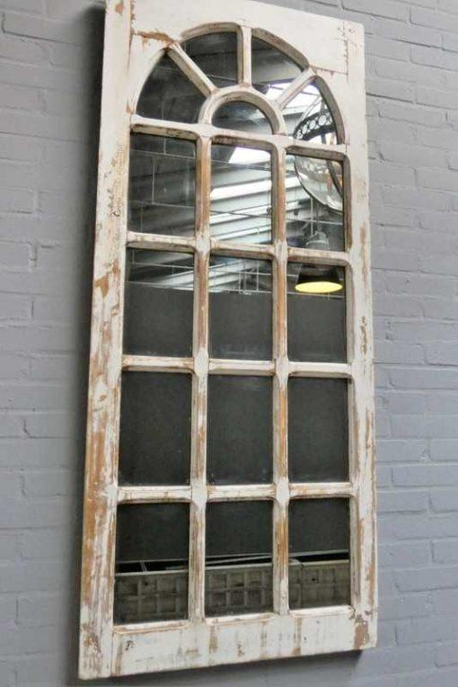 Antiek Gotisch raam met spiegel-1