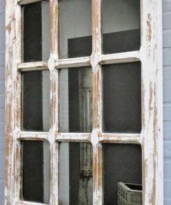 Antique Gothic window with mirror-2