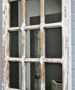 Antiek Gotisch raam met spiegel-2