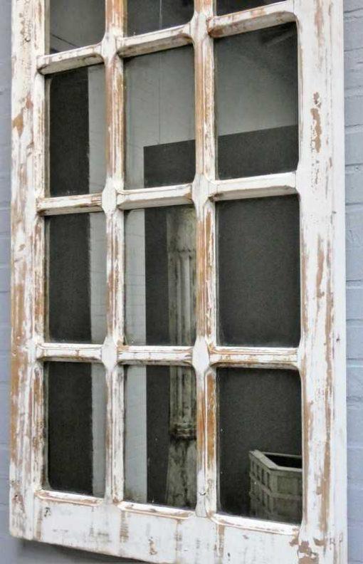 Antique Gothic window with mirror-2