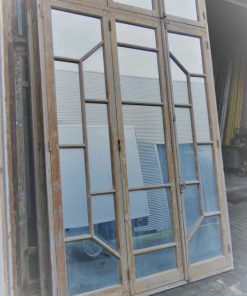 Antieke raamkozijn met spiegels-2